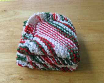Christmas Knitted Dish Cloths