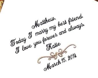 Groom Handkerchief -Hankie - Hanky - Today I Marry MY BEST FRIEND - Gift for Groom from Bride - Weddings - Wedding - Wedding gift for Groom