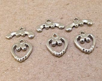 5Clasps platinum plated Heart  Clasp Connector 14mmx10mm  Necklace Clasp Bracelet  Clasp Jewelry Clasp Fitting Finding Fashion Style