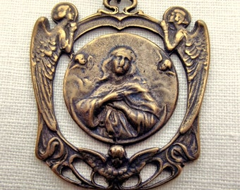 Bronze Mary Queen of Angels Medal