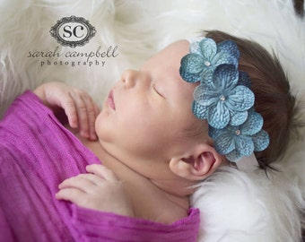 baby girls blue headband..blue headband..girls blue headband