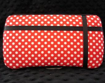 Sale red Polka dot travel wipe case/ wipe case/ wet wipe case