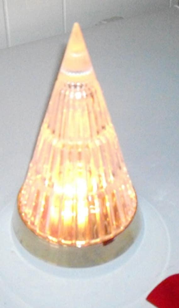 Vintage Avon Crystal Christmas Tree Light Up Crystal Holiday