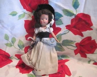 Nancy Ann, Little Bo Peep Nancy Ann Type Doll, Story Book Doll, Vintage Doll, Small Vintage Doll,  / :)S