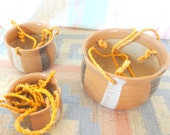 Vintage Hippie Hanging Pottery Planters