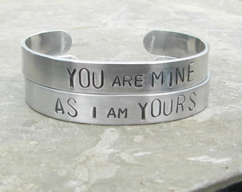 Hand Stamped Jewelry Game of Thrones Inspired Jon Snow quote Bracelets