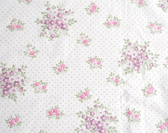 pink floral fabric pink vintage fabric quilting fabric patchwork french vintage fabric polkadot fabric 125