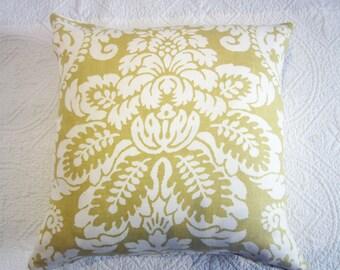 Chartreuse Linen Cushion 50 x 50cm