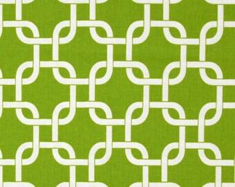"Green Decorative Pillow Covers -Green Gotcha Chain Link ..16"",17"",18"",20"" 24"" 26"", Lumbar Pillow or Euro Sham"