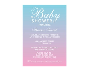 Boy Girl Baby Shower Invite