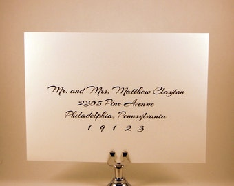 Digital Envelope Calligraphy