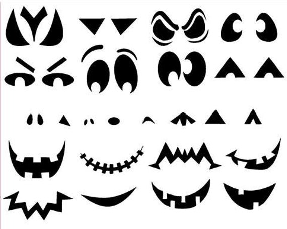 Create Your Own Pumpkin Faces Halloween Vinyl Sticker Decal