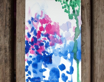 "Archival Print of Original Watercolor ""Blueberry Freeze"""