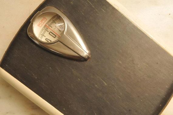 Items similar to mid century borg bathroom scale black and for Borg bathroom scale