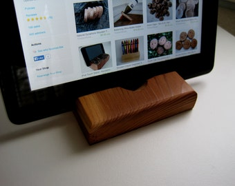 iPad Stand - Reclaimed Redwood Rustic Wooden ipad or Kindle Holder Stand