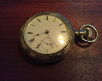 """Rare Early 7 Jewel Waltham signed """"Sterling"""" Pocket watch made 1881"""