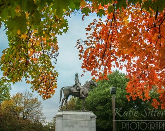 SALE Stonewall Jackson on Monument Ave in Richmond Va. Photo Art,  Confederate Picture, Frame Option