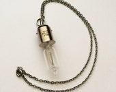 Steampunk Lightbulb Pendent Necklace