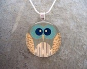 Owl Jewelry - Glass Pendant Necklace - Owl 15 - PRE-ORDER