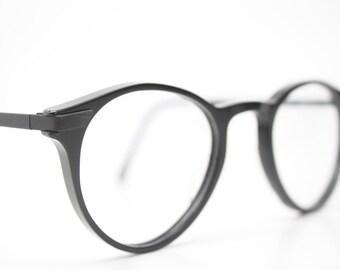 Unique Vintage Black P3 Eyeglass Frames Retro Eyeglasses Stylish Eyewear