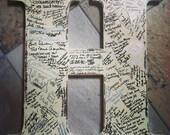 Wedding guest book alternative rustic wedding 2 foot tall wedding sign in letter wedding photo prop