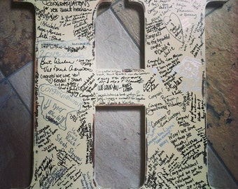 Wedding guest book alternative rustic wedding 2 foot tall wedding sign in letter wedding photo prop