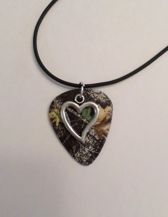 mossy oak camo camouflage guitar necklace with by