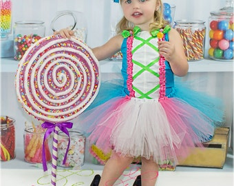 Candy land tutu outfit , tutu dress , candy , turquoise , pink , white , tutu , party , pageant wear , birthday outfit