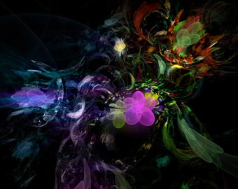 Little Daisy's playground - fractal artwork digital download, original home / interior decoration