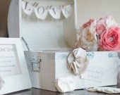 Wedding Guest Book Alternative-Vintage Wedding Decor by Burlap and Linen Co