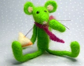 needle felted mouse...Benjy