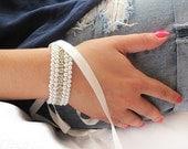 Christmas Gifts, Pearl, Rhinestone Bracelet, Pearl Cuff, Wedding Bracelet,  Cuff, Wedding Jewelry, For Woman