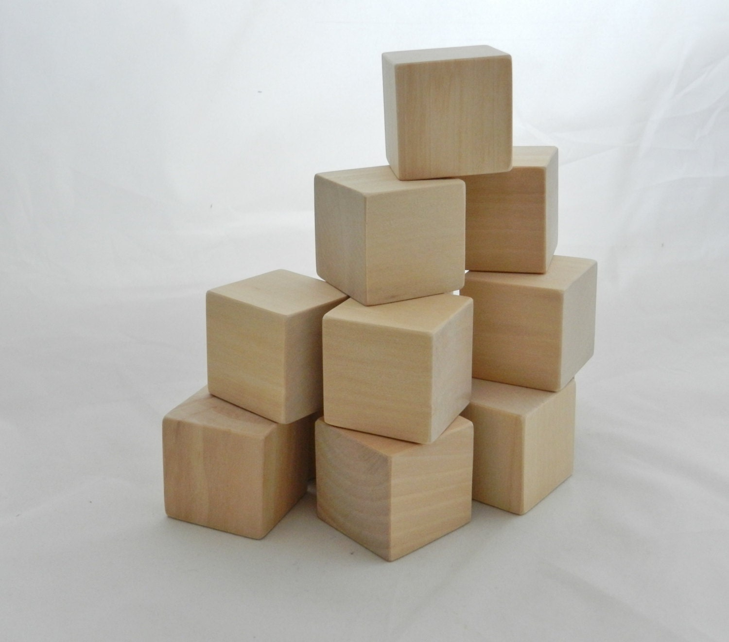 Wooden blocks building baby inch set of