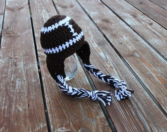 Earflap Football Hat- Made to Order- Any Size