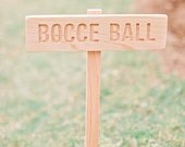 YARD GAME Signs, Party Signs, Wedding Game Sign, Family Reunion, BBQ , Bocce Ball, Croquet, Ring Toss, Cornhole, Sack Race, Bowling