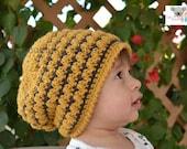 PDF Crochet Pattern Elise Slouch Hat Toddler, Child, Adult