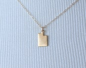 Dainty Utah Charm Necklace