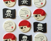 Fondant Cupcake Toppers - Pirates II