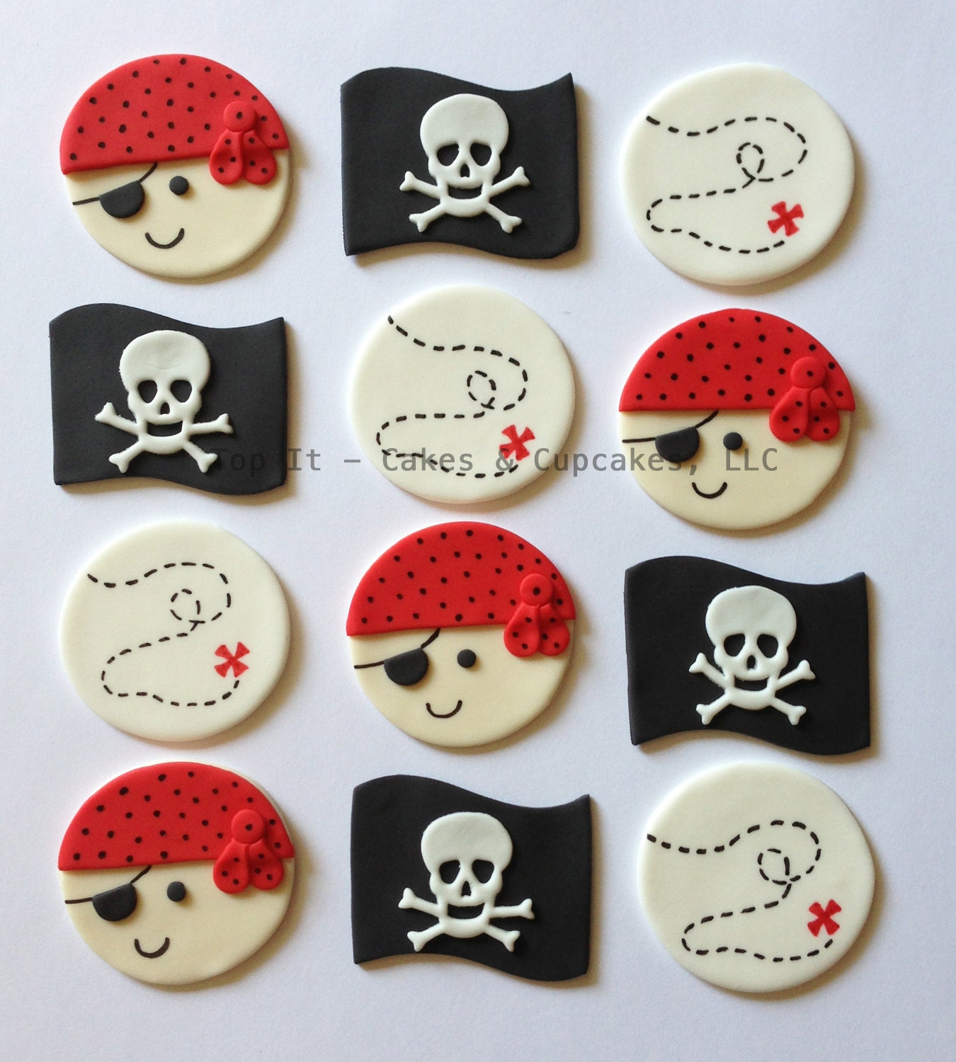 Pirate Birthday Cake Toppers