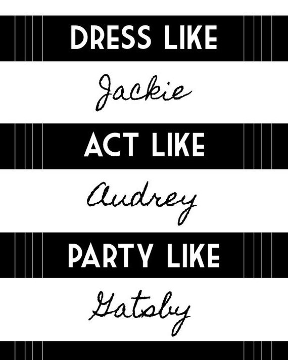 Party Like Gatsby Fotos Party Like Gatsby 8x10 Quote