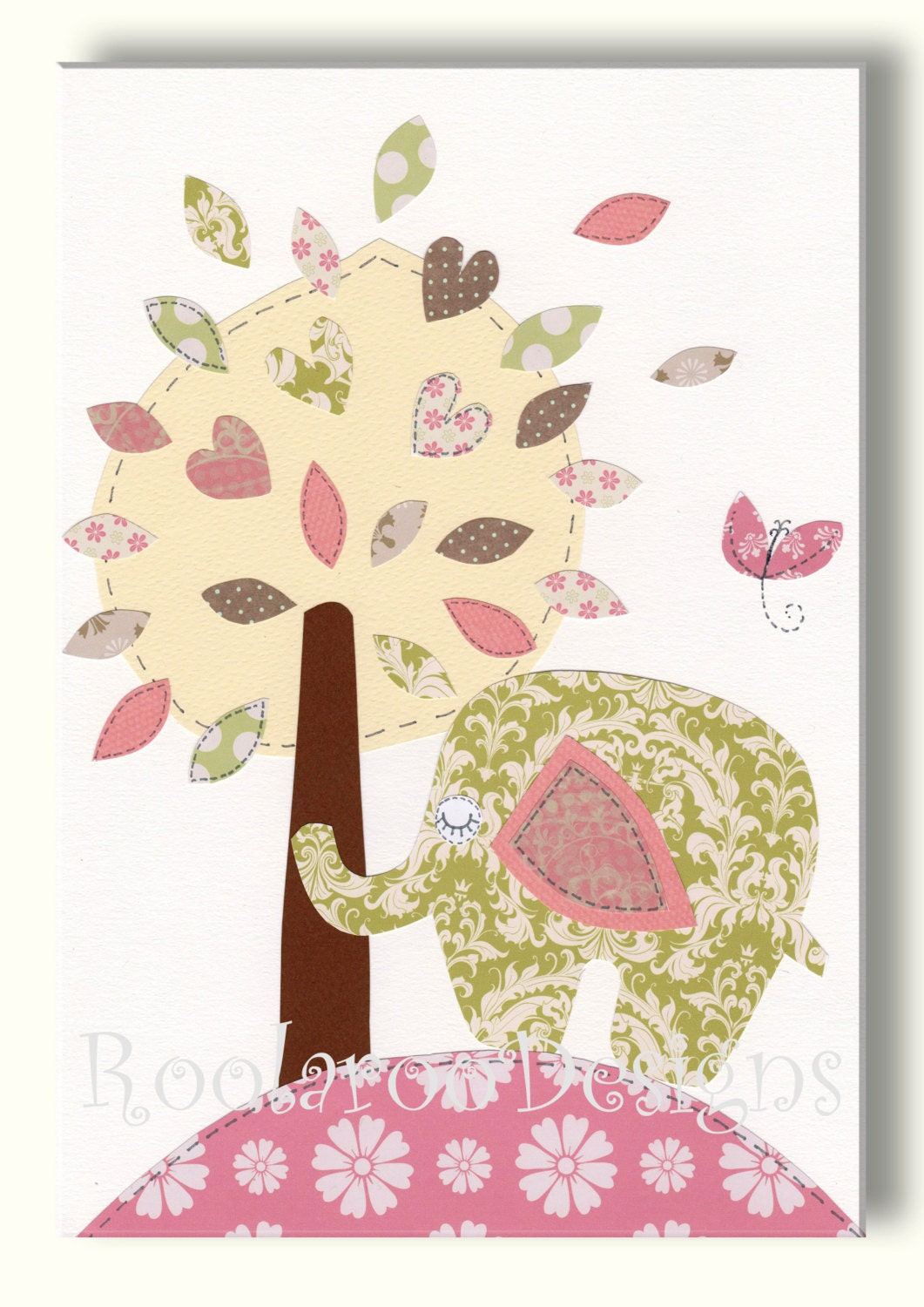 pink and green nursery art print woodland nursery by snoodlebugs. Black Bedroom Furniture Sets. Home Design Ideas