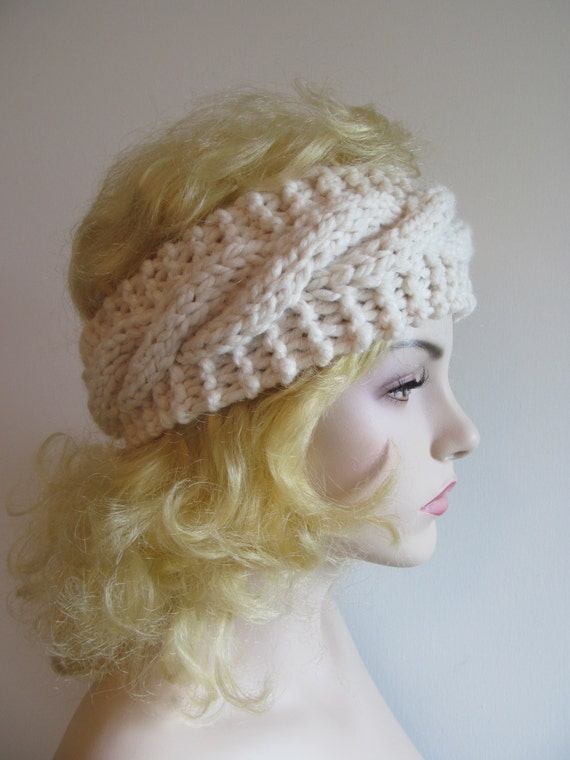 Hippie Headband Knitting Pattern : Digital PDF Knitting Pattern Easy Cable Headbands by Lacywork