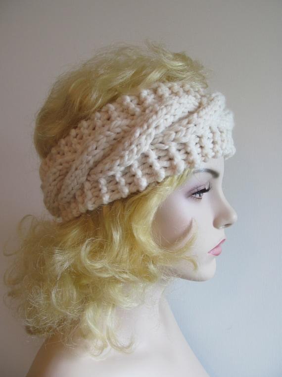 Chunky Cable Knit Headband Pattern : Digital PDF Knitting Pattern Easy Cable Headbands Chunky Ear Warmers Fall Win...
