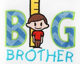 Big Brother APPLIQUE Embroidery Design  INSTANT DOWNLOAD