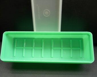 Tupperware Celery Keeper, 892-2, jade green, lid,
