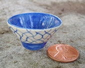 Handmade Blue and White Miniature Bowl