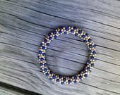 14KT GF and Lapis Bead Crochet Bracelet