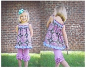 Tickle Me Top  - PDF Top Pattern  Girl's Sewing Pattern. Girl's Top Pattern. Toddler Top Pattern sizes 1-9/10