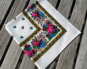 Bright White Floral Scarf - Shawl. Flowers. 28