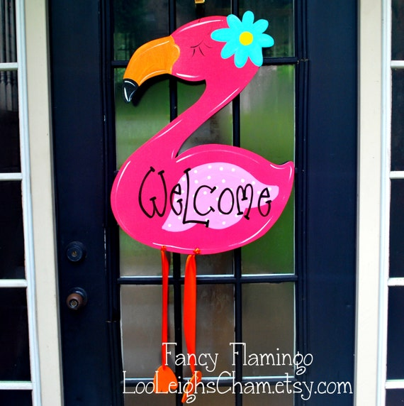 Classroom Window Decoration Ideas ~ Flamingo summer wreath camper decor sign beach